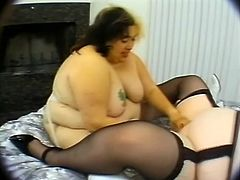BBW lesbian action is what's on your screen right now. Sindee Williams and Angela are together and they know how to find each other's twats behind fats.