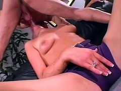 Desirable and such a kinky blond angel Stacy Thorn is experiencing a big cock in her mouth and pussy! She fucks like a damn pro!