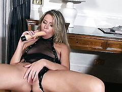 Cherry Jul spends her sexual energy with pole in the ass