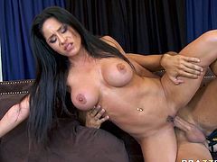 Watch this extremely horny and sexy babe Jenaveve Jolie getting her wet and tight pussy fucked by her new friend in Brazzers Network sex clips.