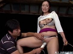 Mika Nanase is masturbated before being fucked