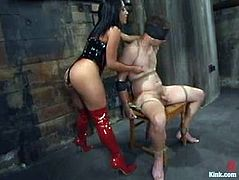 Divine mistress charms her dude and tortures him