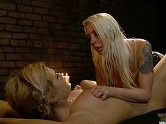Amazing Tara gets gagged and spanked by nasty Lorelei Lee. Then Tara also gets her juicy vagina fingered in close-up scenes and toyed with a strap-on.