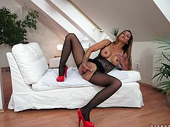 Make sure you have a look at this hot solo scene where a smoking hot milf shoves her fist in her wet pussy as she wears sensual lingerie.