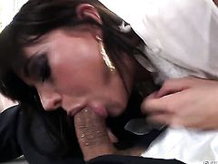 Mick Blue uses his erect love torpedo to make happy after she gives mouth job