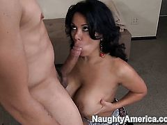 Attractive chica temptress Sienna West does dirty things with hard dicked guy Anthony Rosano