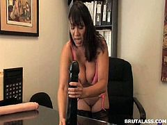 Brutal Ass brings you an amazing free porn video where you can see how the vicious brunette Latina milf Ava Devine rides bottles and dildos with her ass til she cums very hard.
