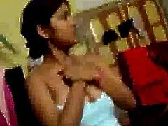 Hot indian Girl expose her Boobs at Hostel room