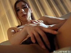 Get a load of this hot POV where the slutty Yuria Ashina plays with her wet pussy before giving this guy an amazing handjob.