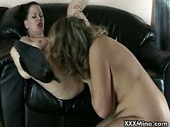 Check out horny mature Mina having fun with her best friend Kelly. They are satisfying their smoking fetish together, but soon it all ends up with kinky pussy licking.