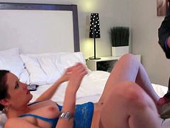 Tall randy general Evan Stone with long rock hard cock has waited long time to see Kimberly Kane. He bangs her hard all over bedroom with his uniform on.