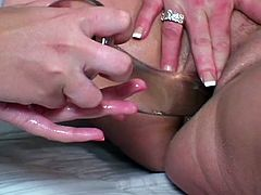 Teen plays with horny mature
