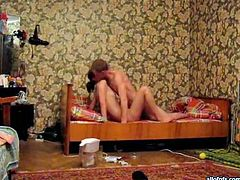 Horny amateur couple is having passionate missionary style sex. Perky girl also gives head to her BF. The couple have no idea of being filmed on hidden camera. Check out this hot amateur sex video made on spy cam.