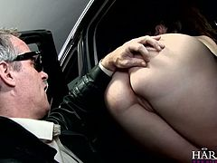 Watch this old perverted guy who loved to poke his fingers into her tight butthole and lick it up in Harmony Vision sex clips.