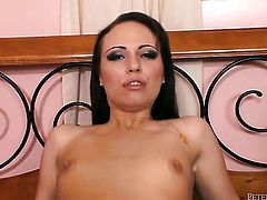 Hannah West is so wet and so horny that gives blowjob to Will Powers just like crazy