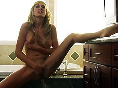 Brett Rossi strips down to her bare skin for your viewing entertainment