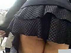 Enjoy this hot voyeur vid where a hot Asian brunette gets her hot ass and sexy panties spied in the middle of the street. She doesn't realize how good she looks!