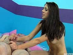 Anna Morna is a cute brunette teenie and she is always ready to experience some hardcore banging by a big cock. She enjoyed every inch of it and took a big cumshot.