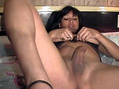 It's not as big as the cock that hangs in between her legs and shakes, when he fucks her asshole. Though, the size of his cock did satisfy Maria Belen.