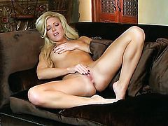 Niki Young touches her honeypot gently