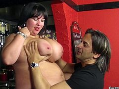 There's a kitty out there that's starving, for cock! Meoww surely never starved for food but a hard dick is something else! She's at her workplace with this dude and things get a bit spicy! He grabs her huge boobs, plays with them and then fingers her shaved cunt. Look at her fat sweet pussy being fingered!