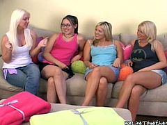 After they spend nice afternoon they came home and started talking about sex. These lesbian couples knows how to please each other.