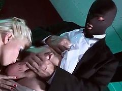 Nice and smooth anal penetration for a desirable and kinky blond doll Jessie Volt! Honey is going to make this dude fuck her up in the ass.