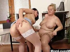 This is filthy porn movie presented by Mom Loves Mom. So if you are into BBW moms with lesbian sex preferences, enjoy watching this awesome XXX free porn movie.