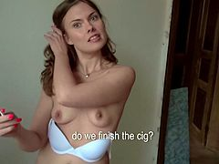Click to watch this lady getting ass fucked after she slurps a huge dick with passion. Irina gets wild when she sees money and people walking on the street.