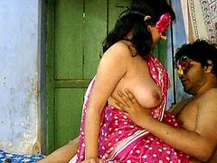 Savita is a true master in stroking this guy's dick up her fresh pussy
