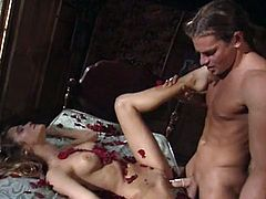 Check out this wild threesome with some really good blowjob action and these girls can suck