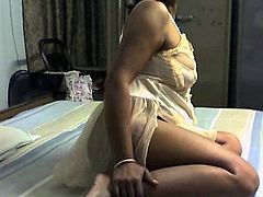 Horny indian milf is quite naughty during sexy amateur cam show