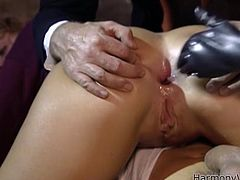 Have fun jerking off to this hardcore scene where two slutty blonde get nailed by big cocks in this foursome scene.