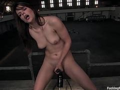 Charming chick Bobbi Starr is having fun with a fucking machine. She takes the device into her coochie and rides it till she gets a great orgasm.