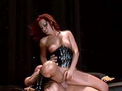 Sandra Romain gets her snatch licked and pounded hard from behind