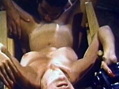 Alluring babes are amazing in this staggering vintage group fuck porn show