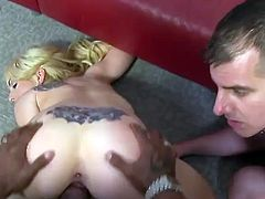 This threesome video has all sorts of fun, including spanking and cuckold fun. Enjoy the action because they loved making this video