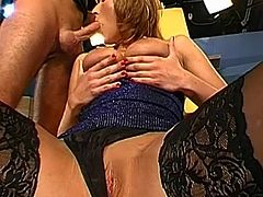 Group sex video featuring German milf Vendula