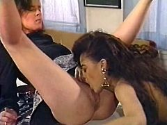 These gorgeous lesbians are in love, and it manifests in every move they make together. They lick each other's delicious pussies tenderly and sensually. Press play and get ready for the hottest lesbian sex scene ever!