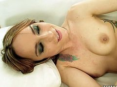 Blond headed big titties girlie wants her pal feel incredibly good. She gives this tattooed slut passionate and deep handfuck in doggy style. Watch this doggystyle hand fuck in 21 Sextury porn video!
