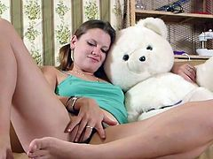 Chicks Out West - Dilettante sweetpie shagging the teddy bear