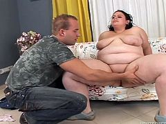Damn, just look at this lusty and horny BBW lady Ivana A! Damn, she is so fat and nasty, and she is going to love the size of that huge cock!