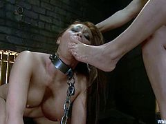 Gorgeous brunette Isis Love is having fun with brown-haired babe Mia Lelani indoors. Isis puts Mia into irons and tortures the hottie before fucking her snatch with a huge dildo.