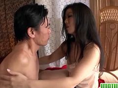 Check out stunning Japanese lady involved into some hardcore banging with a horny dude. She got her hairy twat fingered and is ready for some hardcore banging.