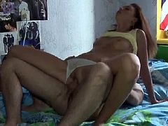 Slim with amazing skills beauty plays nasty with this large cock
