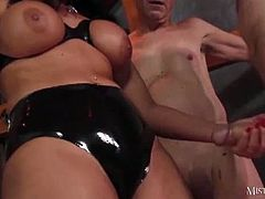 Mistress Carly wants a big load of cum shot up her cunt and then for her submissive to lick her clean. She is dominating two old dudes and can make them go nuts.