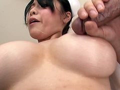 This insatiable Asian nurse has a huge sexual appetite and she needs at least two hard cocks to satisfy her lust. She gets her pussy filled with cock but she has one more throbbing cock to handle in this fantastic sex video.