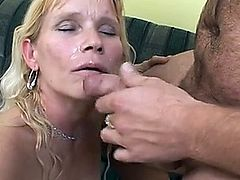 Old used blonde fucked