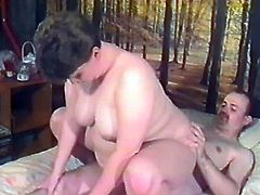 Have a blast looking at this big lady riding a man's dick like a cowgirl, and later enjoy how she is ass fingered in the doggy style!