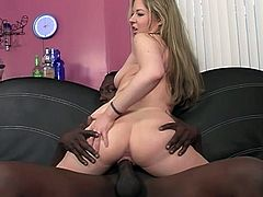 This white girl loves to get fucked by black guys.Today she surrendered that ass, literally, to a hung black stud who drove it deep.